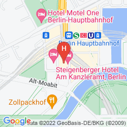 Karte STEIGENBERGER HOTEL AM KANZLERAMT
