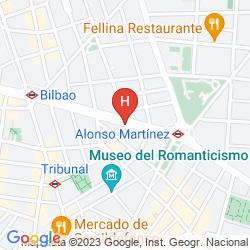 Karte SAFESTAY MADRID