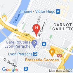 Karte INTER-HOTEL DE LA LOIRE
