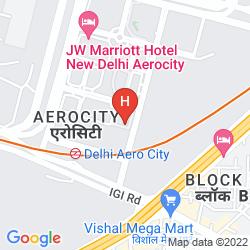 Karte HOLIDAY INN NEW DELHI INTERNATIONAL AIRPORT