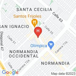 Karte HOTEL DORADO GOLD