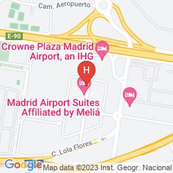Karte TRYP MADRID AIRPORT SUITES