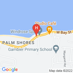 Karte COMPASS POINT BEACH RESORT