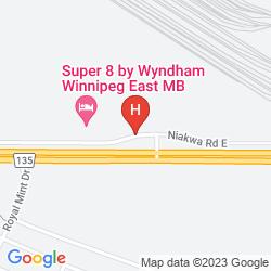 Karte SUPER 8 WINNIPEG EAST MB