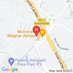 Karte PREMIERE CLASSE TOULOUSE OUEST - BLAGNAC AÉROPORT