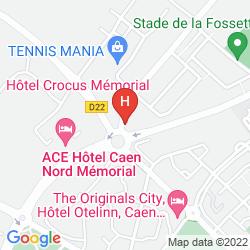 Karte HOTEL CROCUS CAEN MEMORIAL