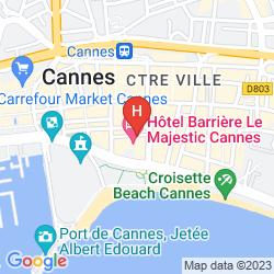 Karte HOTEL AMERICA CANNES