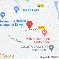 Karte VICHY SPA HOTEL MONTPELLIER JUVIGNAC