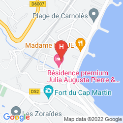 Karte HOTEL LE GRAND CAP