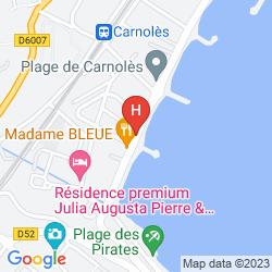 Karte HÔTEL REINE D'AZUR
