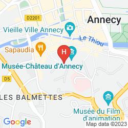 Karte NOVOTEL ANNECY CENTRE ATRIA