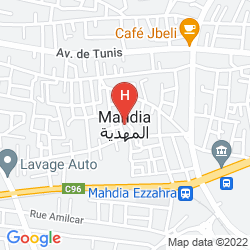Karte GOLDEN TULIP MAHDIA PALACE