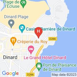 Karte BARRIÈRE LE GRAND HOTEL DINARD