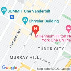Karte THE WESTIN NEW YORK GRAND CENTRAL