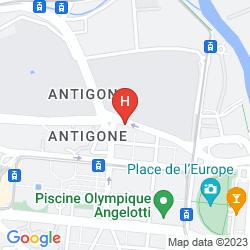Karte KYRIAD CENTRE ANTIGONE