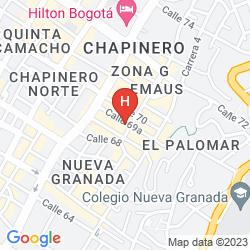 Karte HOTEL BOUTIQUE ZONA G