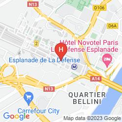 Karte MELIA PARIS LA DEFENSE