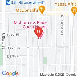 Karte CHICAGO DAILY RENTALS HOSTEL