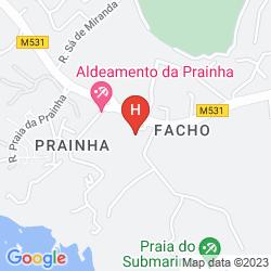 Karte PRAINHA VILLAGE- ALVOR/ALGARVE