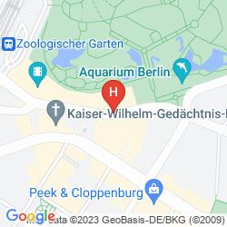 Karte 25HOURS HOTEL BIKINI BERLIN