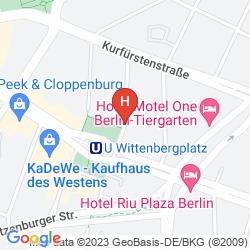 Karte IBIS BERLIN KURFÜRSTENDAMM