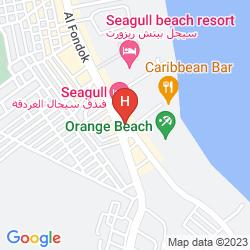 Karte CLUB HOTEL AQUA FUN HURGHADA