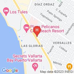 Karte HACIENDA DE VALLARTA LAS GLORIAS