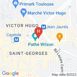 Karte NOVOTEL TOULOUSE CENTRE WILSON