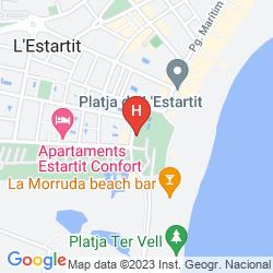 Karte APARTAMENTOS SALLÉS BEACH
