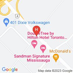 Karte DOUBLETREE BY HILTON HOTEL TORONTO AIRPORT WEST