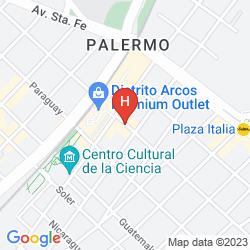 Karte SUITES PALERMO HOTEL