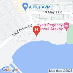 Karte HYATT REGENCY ISTANBUL ATAKOY