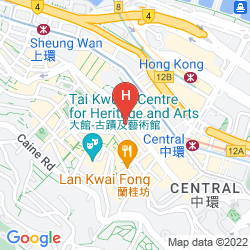 Karte THE POTTINGER HONG KONG