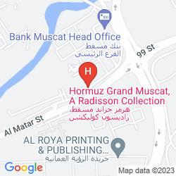 Karte HORMUZ GRAND, MUSCAT A RADISSON COLLECTION