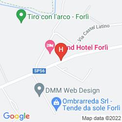 Karte GRAND HOTEL FORLÌ