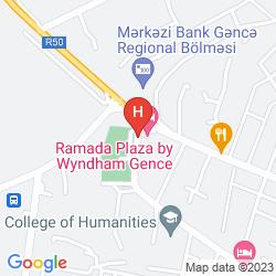 Karte RAMADA PLAZA GENCE