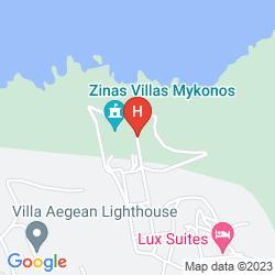 Karte ZINAS VILLAS