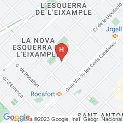 Karte LEONARDO HOTEL BARCELONA GRAN VIA