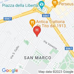 Karte WOW FLORENCE - HOSTEL