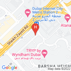 Karte MERCURE HOTEL SUITES & APARTMENTS BARSHA HEIGHTS