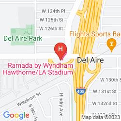 Karte RAMADA HAWTHORNE/LAX
