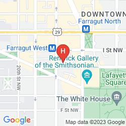 Karte HAMPTON INN WASHINGTON, DC/WHITE HOUSE
