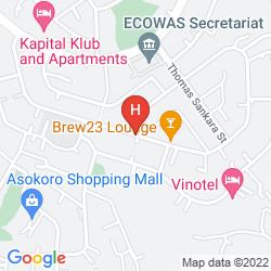 Karte SUMMERSET CONTINENTAL HOTEL ASOKORO