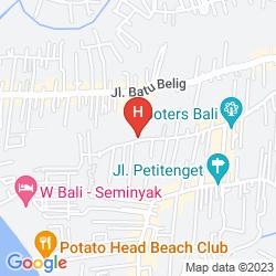 Karte THE ALEA HOTEL SEMINYAK