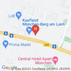 Karte IBIS MUENCHEN CITY OST