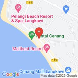 Karte CENANG REST HOUSE