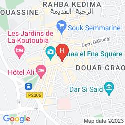 Karte HOTEL & RYAD ART PLACE MARRAKECH