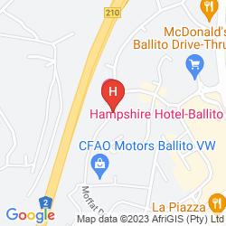 Karte HAMPSHIRE HOTEL BALLITO DURBAN