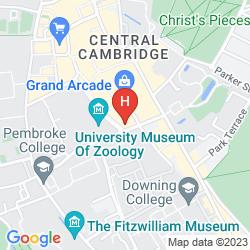 Karte HILTON CAMBRIDGE CITY CENTRE