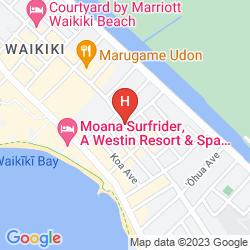 Karte HAWAIIAN EBBTIDE HOTEL